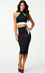 Knee Length Bodycon 2 piece Bandage Dress