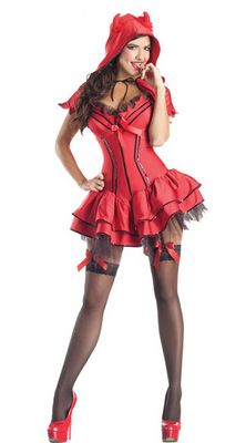 Devil Body Shaper Adult Costume