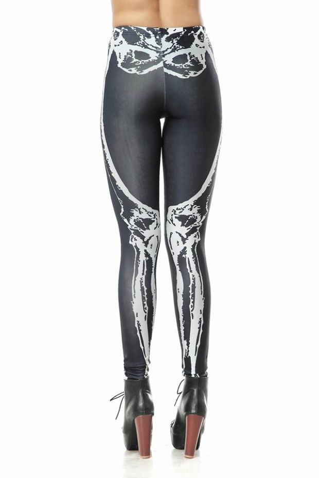 Punk Skull Bone Pattern Leggings
