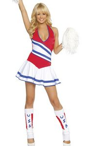 Womens Cheerleader Fancy Dress Costume