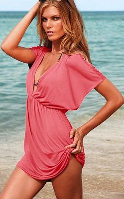 Tunic Pink Top Beach Cover Up