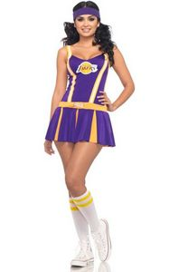 Sexy NBA Lakers Cheerleader Costume