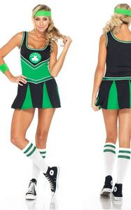 Womens Sexy Boston Celtics Cheerleader Costume