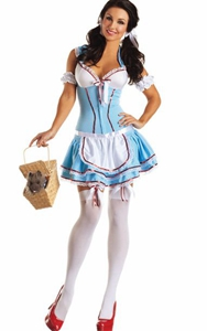 Sexy Dorothy Kansas Cutie Body Shaper Costume Dress