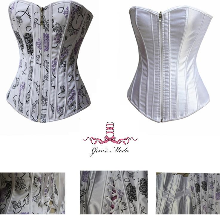 Floral Corset Bustier Double Sided Wear Fashion Corset Top