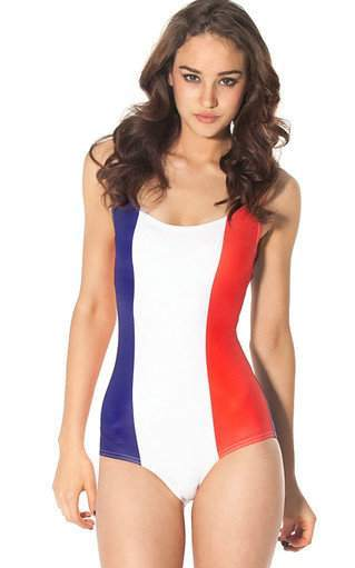 F33065   WORLD FLAGS - FRANCE SWIMSUIT