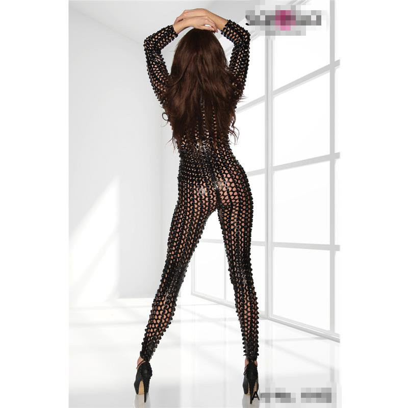 Fashion Punk 3D Intricately crafted Goth Overall Catsuit jumpsuit Costume Black