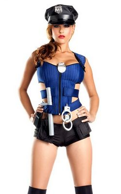 F1432  Ravishing Rookie Police Officer Costume