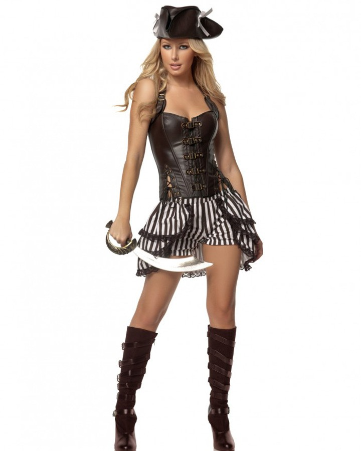F1433  Deluxe Steampunk Pirate Costume