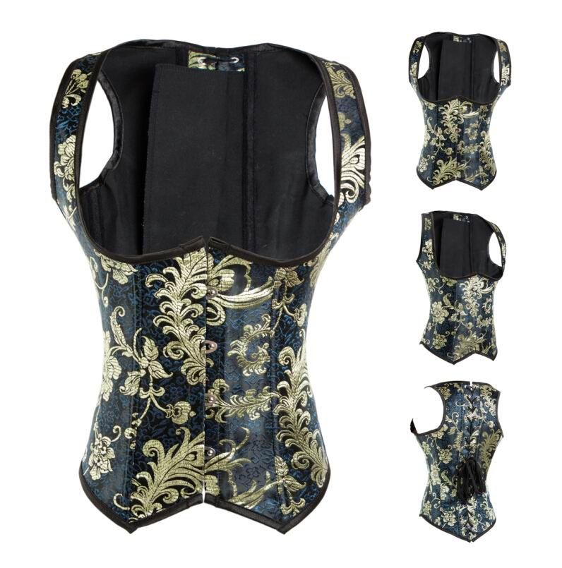 F3196               Vintage Embroidered Underbust Corset
