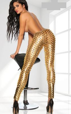 F8459-1  Leggings of the stars of SARESIA in gold