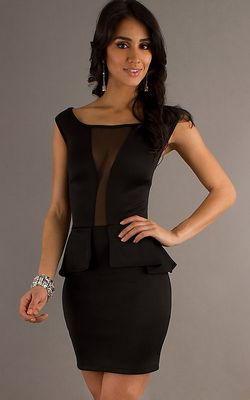 F2265-2 Sexy Black Short Dress with Halter Top