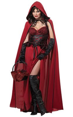 F1438 Dark Red Riding Hood Costume