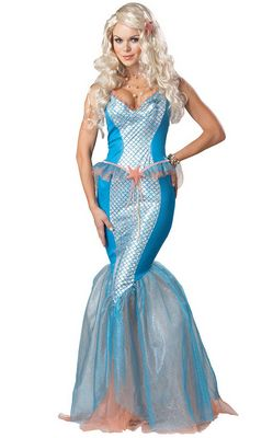 F1442 Sea Siren Mermaid Costume