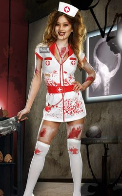 F1448 Nurse Norma Lee Crazy Costume