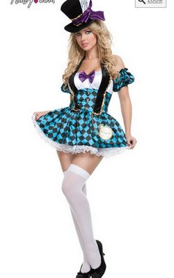 F1467 Female Mad Hatter Costume