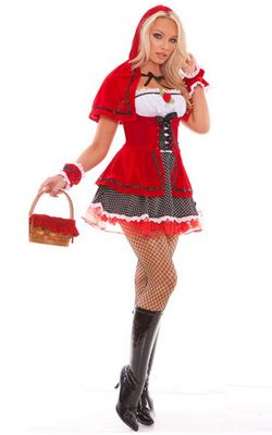 F1476 Sultry Red Riding Hood Costume