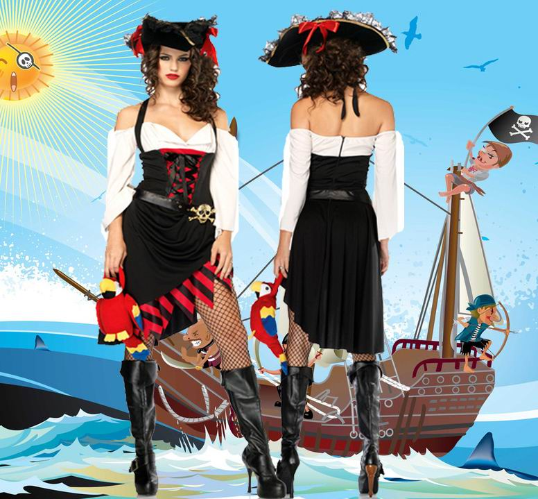 F66123 Sexy Saucy Wench Pirate Costume