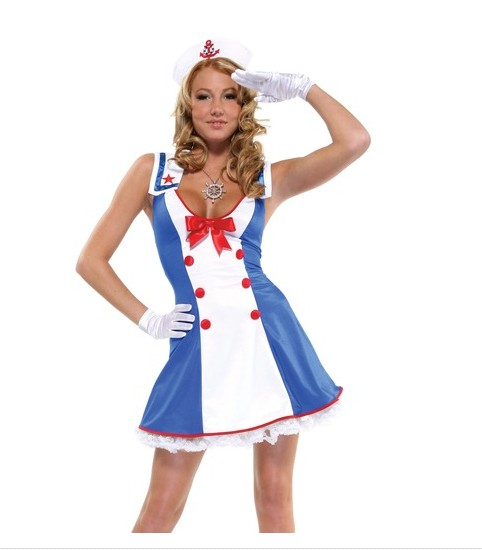 F66127 Overboard Sailor Girl Fancy Dress Costume