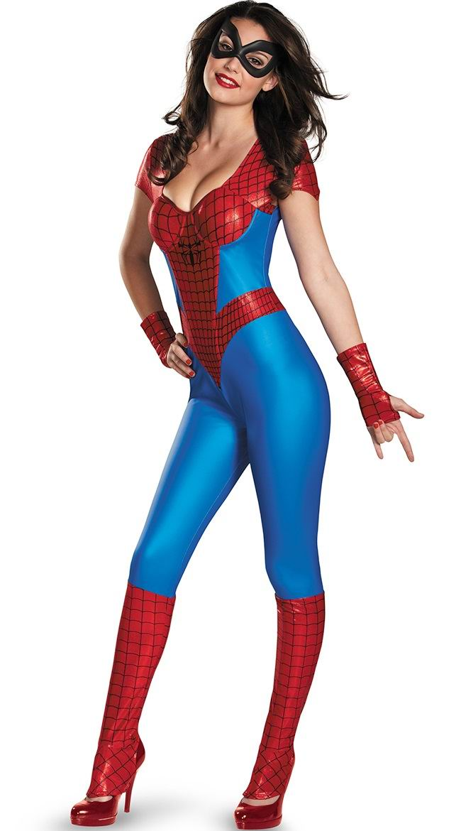 F1482   Amazing Spider Girl Bustier Womens Costume