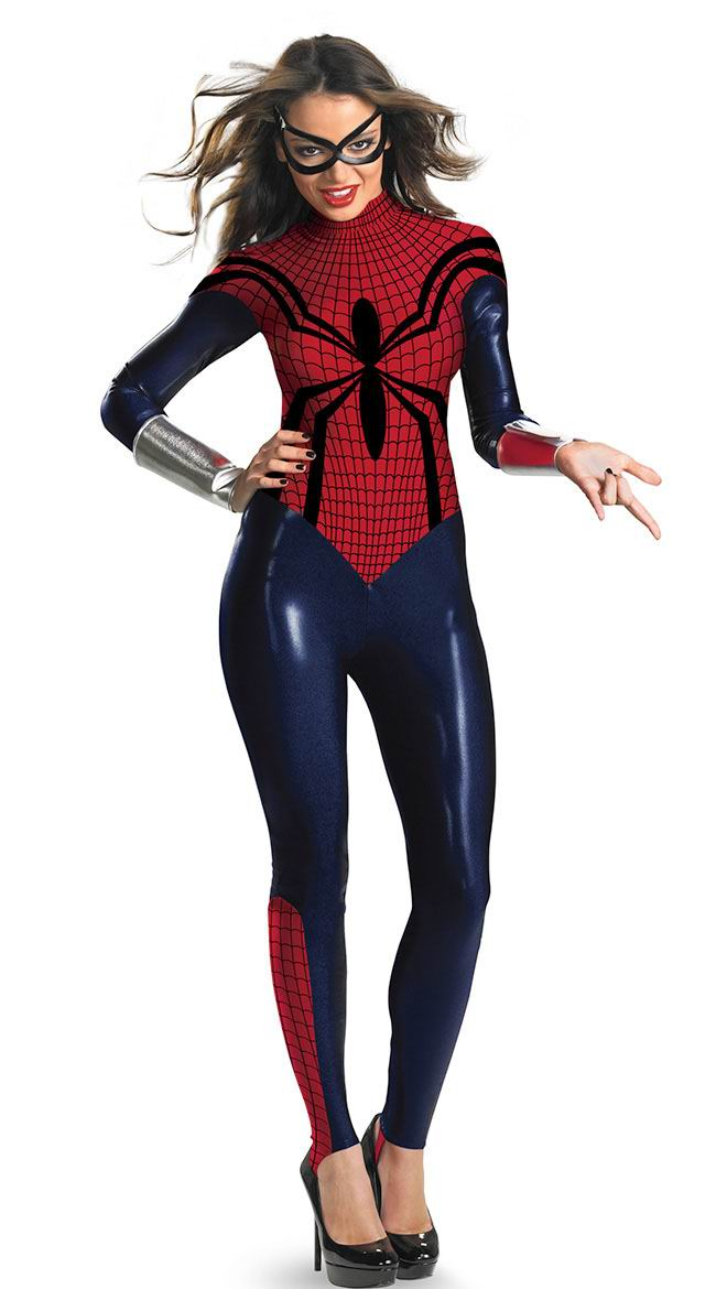 F1483   SPIDER GIRL BODYSUIT COSTUME