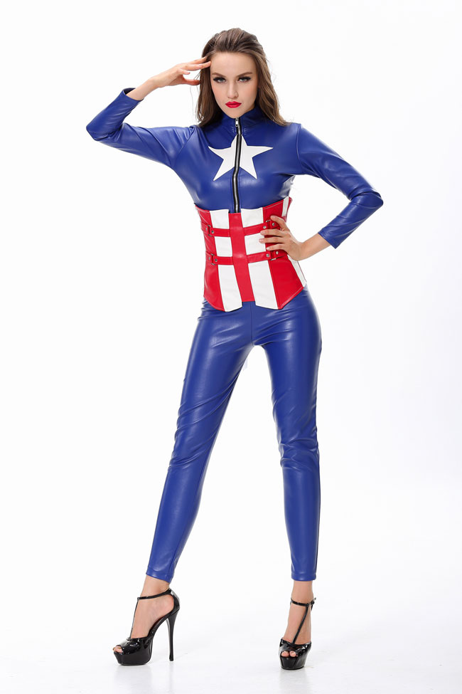 F1487  Sexy Captain America Costume