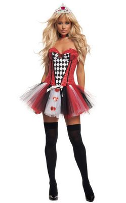F1494   Feisty Queen of Hearts Costum
