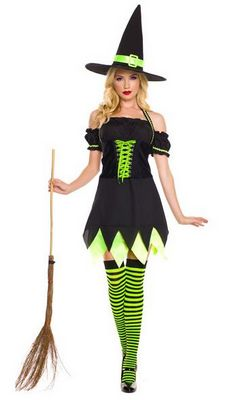 F1501  Holly Dark Witch Costume