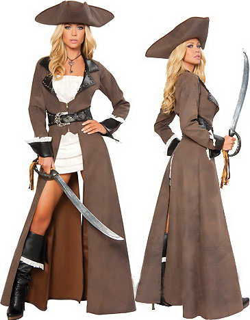 F66149  Halloween Pirates of the Caribbean Female Pirate Cosplay Costume