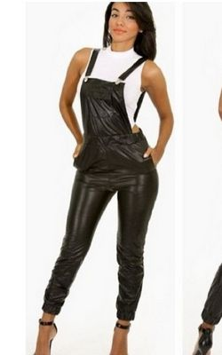 F2310 Leather Women Jumpsuits