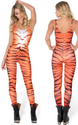 F33094 tiger stripes catsuit