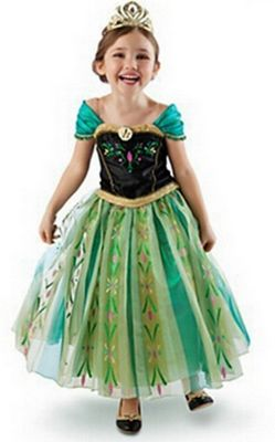 F68003 Anna green Frozen Princess Costume