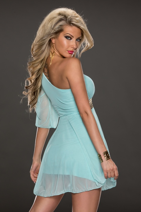 F2324-4 Half Sleeve Party Dresses