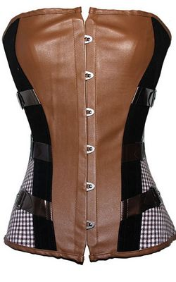 F3202 Steampunk Vegan Leather Corset