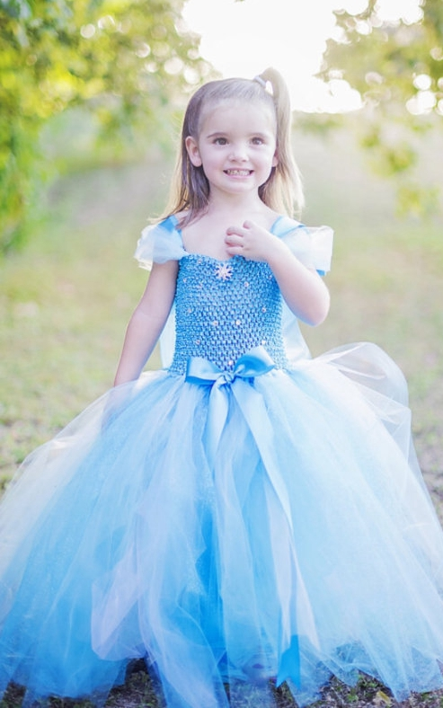 F68010 Frozen children princess dress