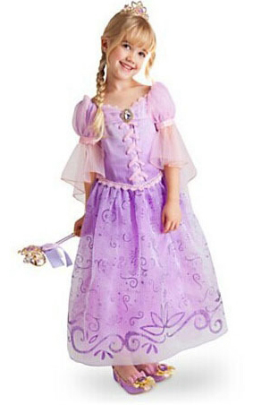 F68011 Frozen  purple princess skirt dress