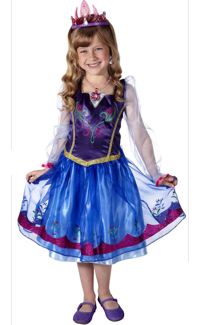 F68018  Frozen Spring girl princess long-sleeved dress