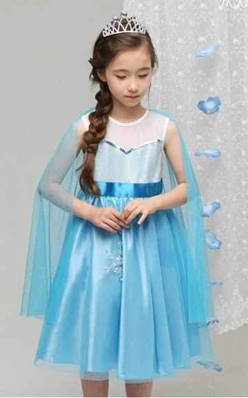 F68019 Frozen pretty mesh princess dress
