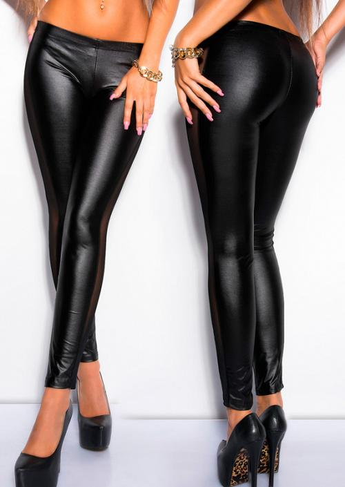 F8466 Leather mesh legging