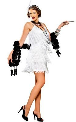 F1514Hollywood Flapper Adult Costume