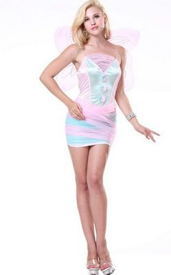F1530Lovely Pink Butterfly Mini Dress