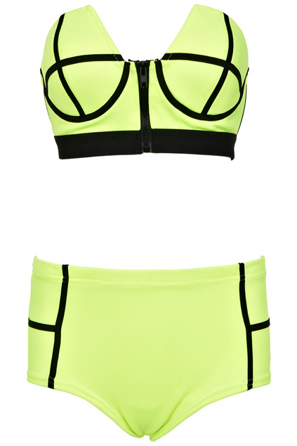 F4359-2High Waist Bikini With Zipper