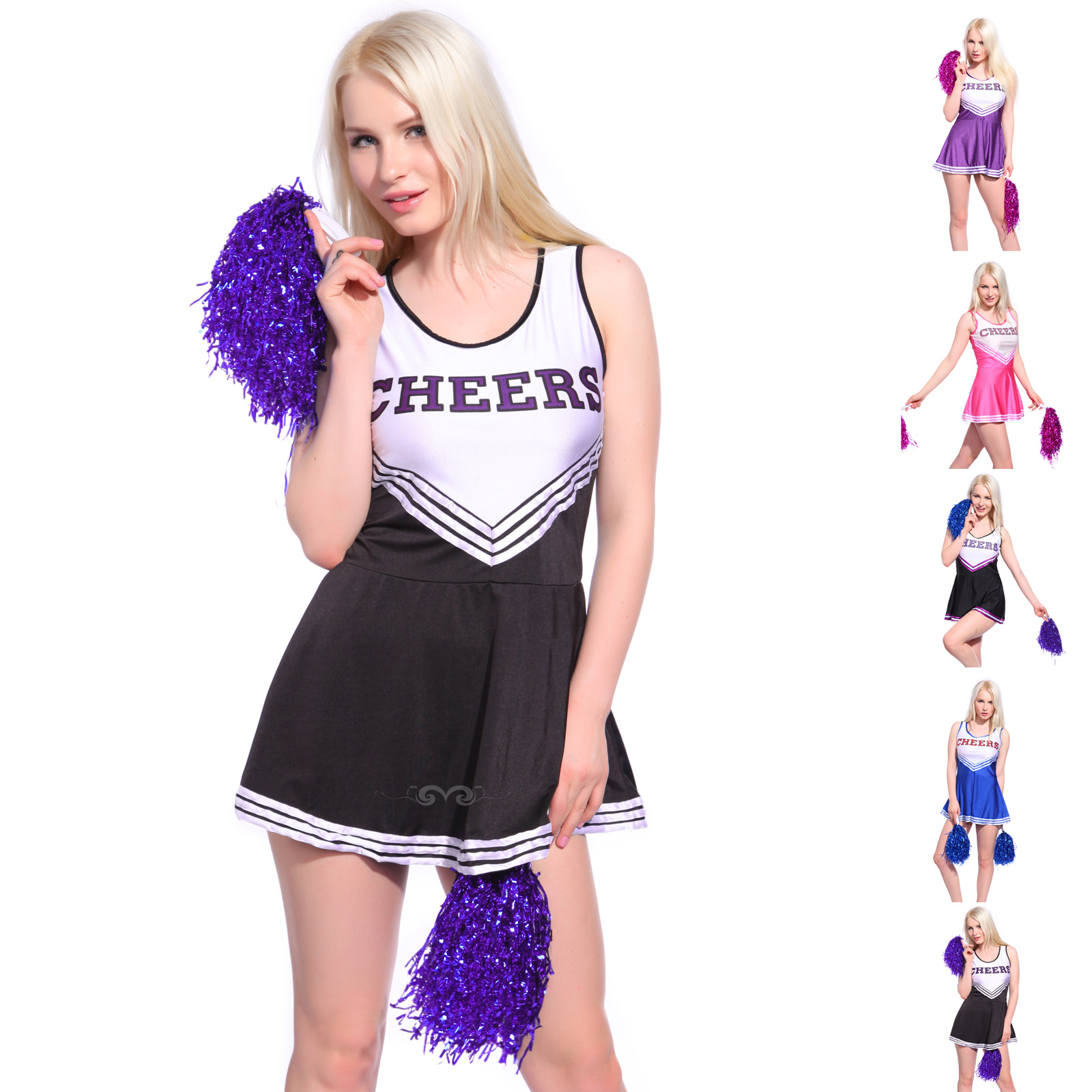 F1537-1 Sexy Cheerleader Uniform Kleid Trikot Dress