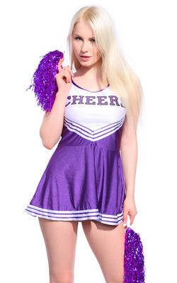 F1537-2 Sexy Cheerleader Uniform Kleid Trikot Dress