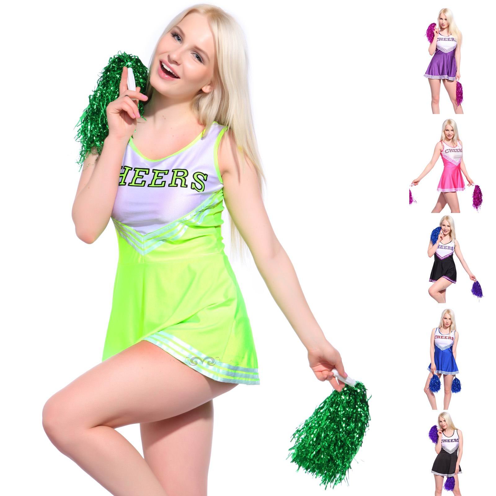 F1537-5 Ladies Cheerleading Costumes Outfit