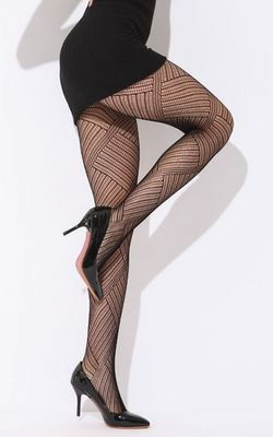 F8179 Black Disorganize Geometry Pantyhose Stockings