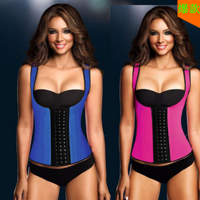 F66333-4  VEST HOURGLASS LATEX BODY SHAPER