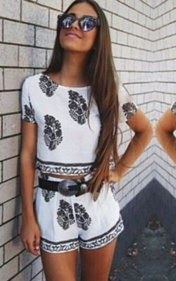 F2420 Simply Cute Boho Two-Piece Playsuit