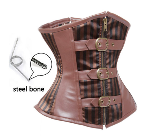 F3207 Cool Brown Cowgirl Underbust Corset