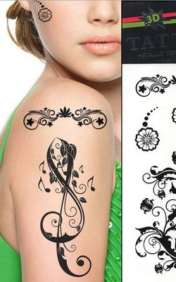 N057 black tattoos
